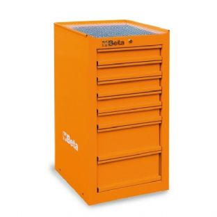 Beta C38L-O Side Cab With Seven Drawers (Orange)